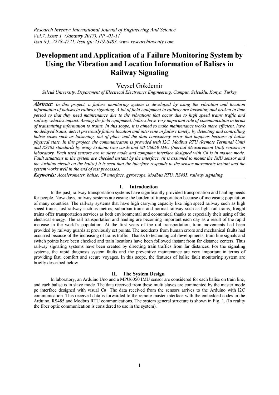 Development and Application of a Failure Monitoring System