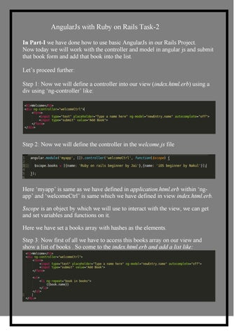Angularjs with ruby on rails task 2 by TecOrb Technologines