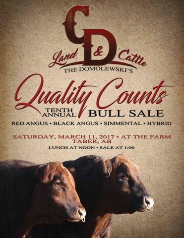Cd land cattle quality counts bull sale 2017 by bouchard cd land cattle x20ac 10th annual quality counts bull sale malvernweather Images