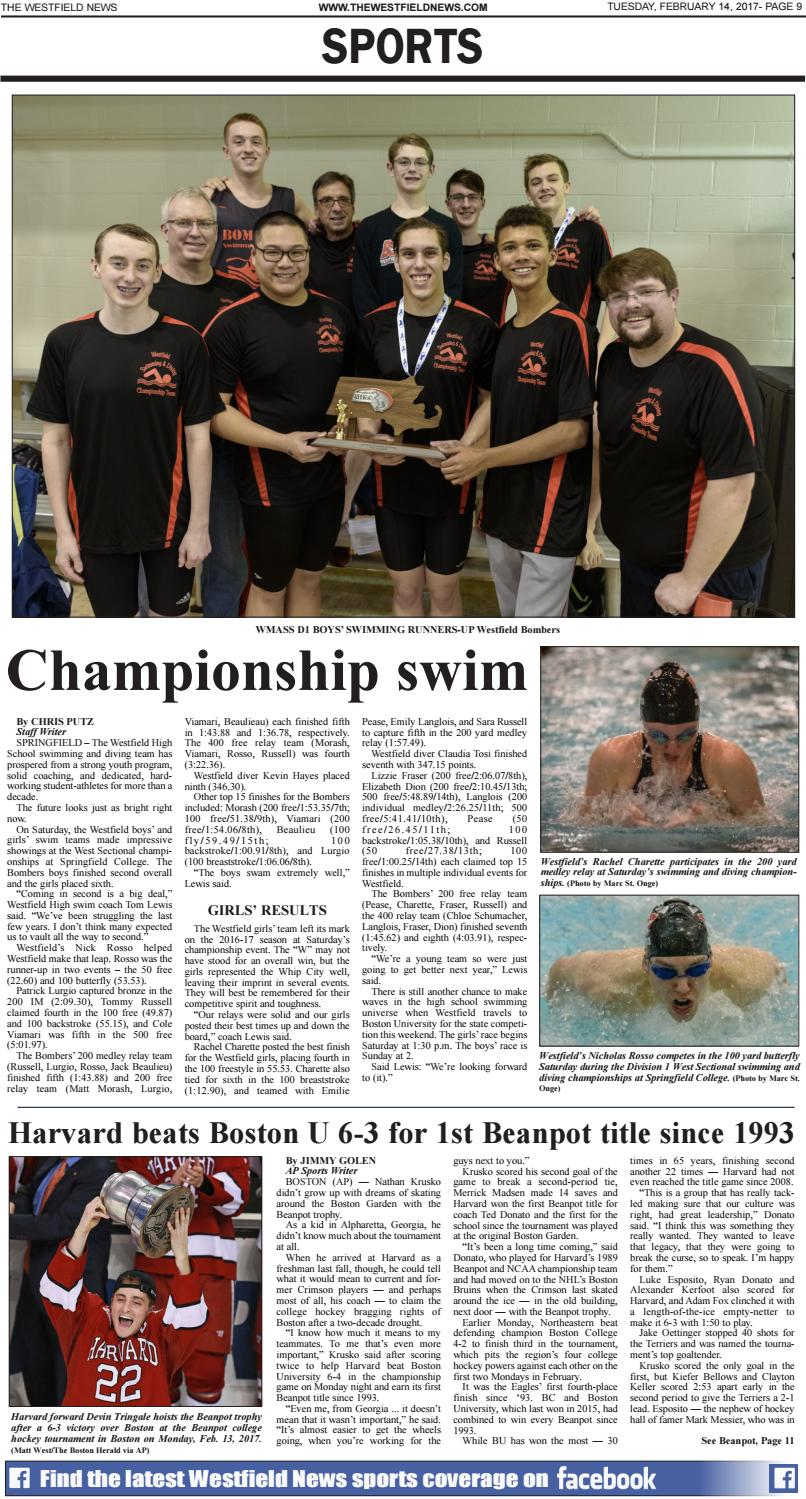 Tuesday, February 14, 2017 by The Westfield News - issuu