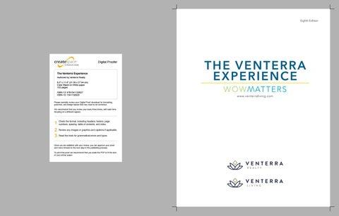 Venterra Experience, CreateSpace Proof by Venterra Realty - issuu