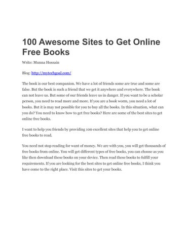 100 Websites: Make Money Online by Mytechgoal - issuu