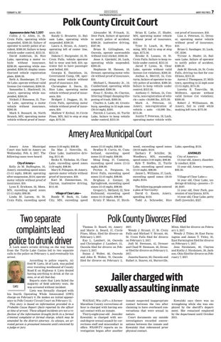 Polk charge document for May 16, 2015