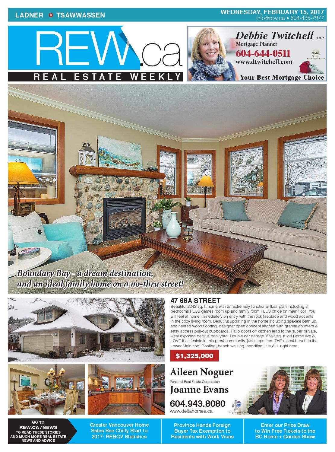 Superb LADNER / TSAWWASSEN Feb 15, 2017 Real Estate Weekly By Real Estate Weekly    Issuu