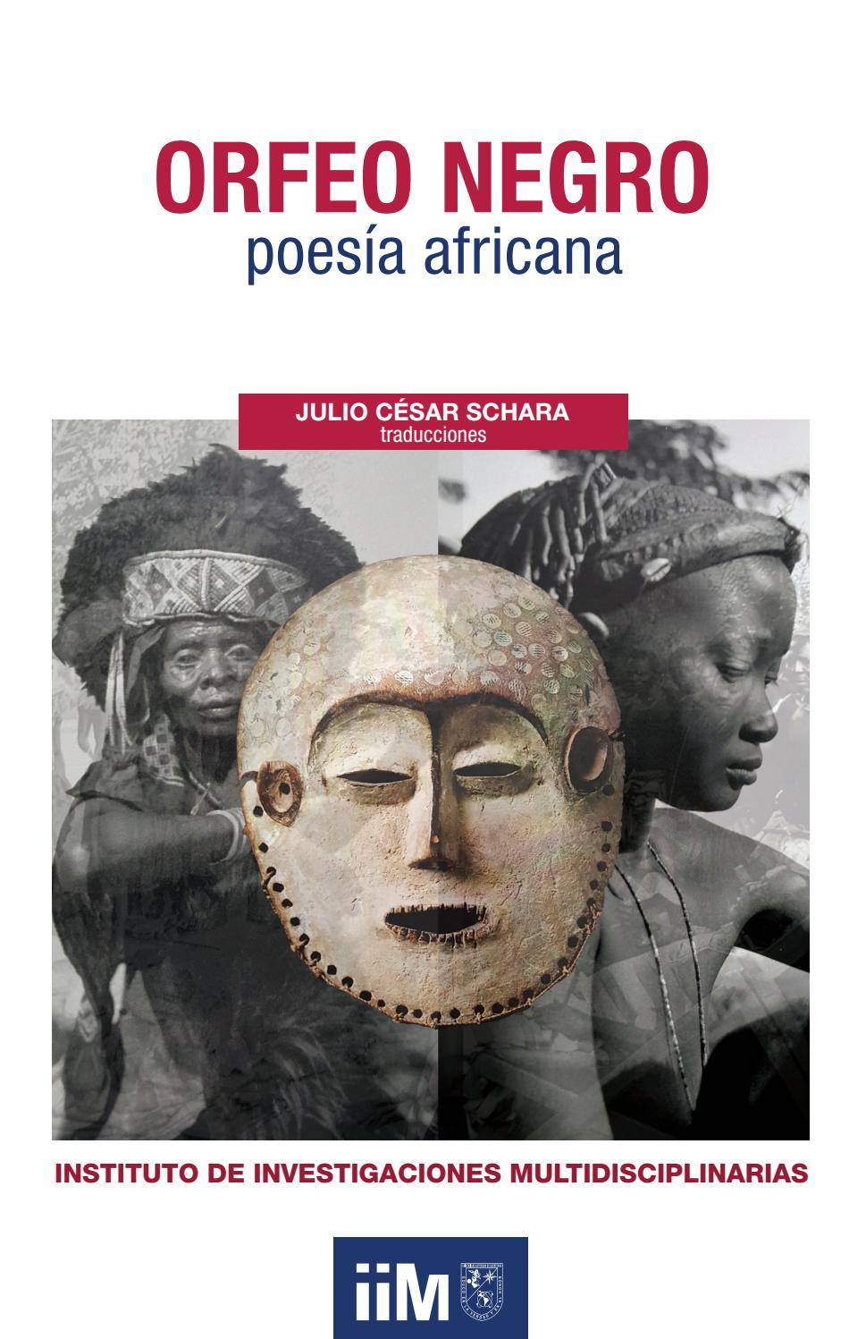 Orfeo Negro Poesía Africana By Instituto De Investigaciones