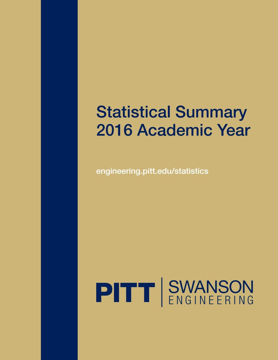 Swanson School of Engineering 2016 statistical summary by PITT ...