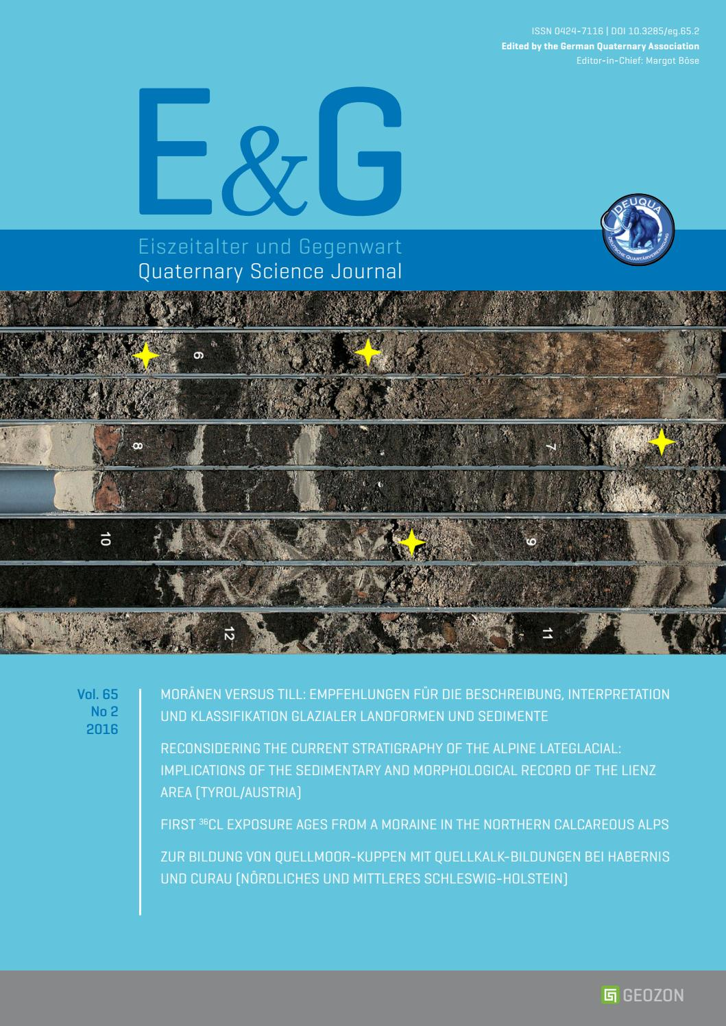 E&200;G – Quaternary Science Journal   Vol. 200 No 20 by Geozon ...