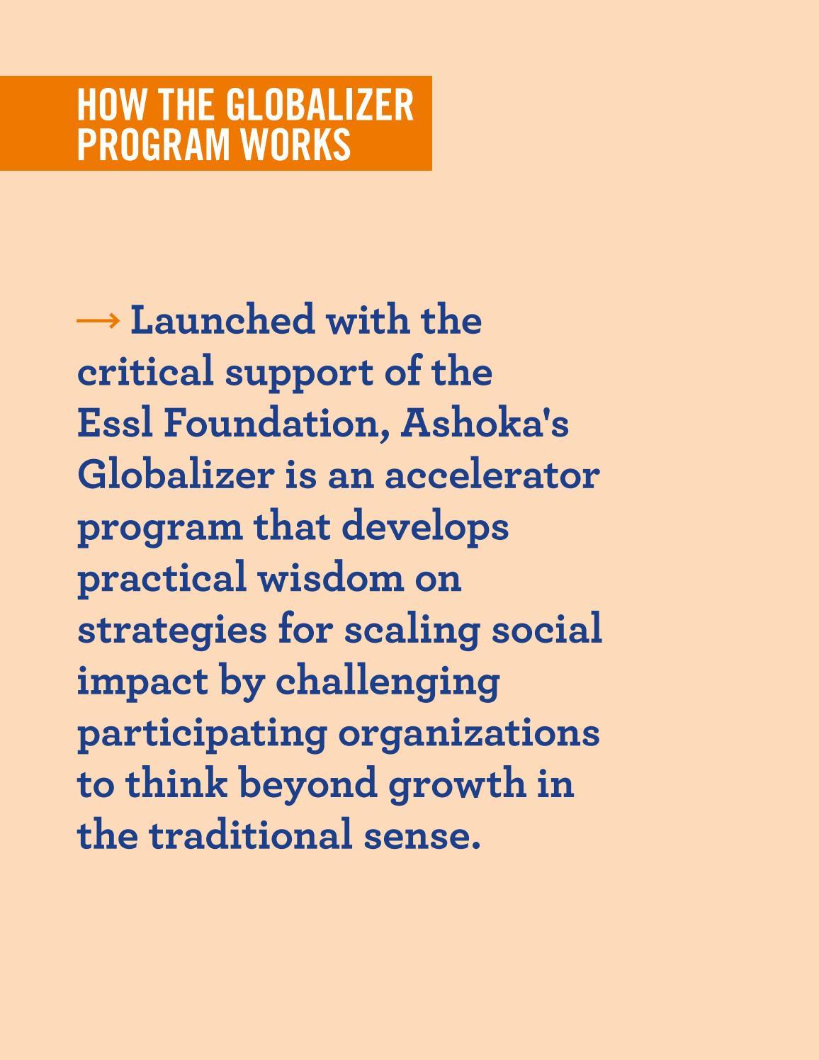 The Ashoka Globalizer Program by Ashoka Globalizer - issuu