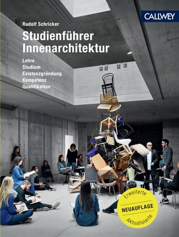 Innenarchitektur Qualifikationen studienführer innenarchitektur by georg d w callwey gmbh co kg