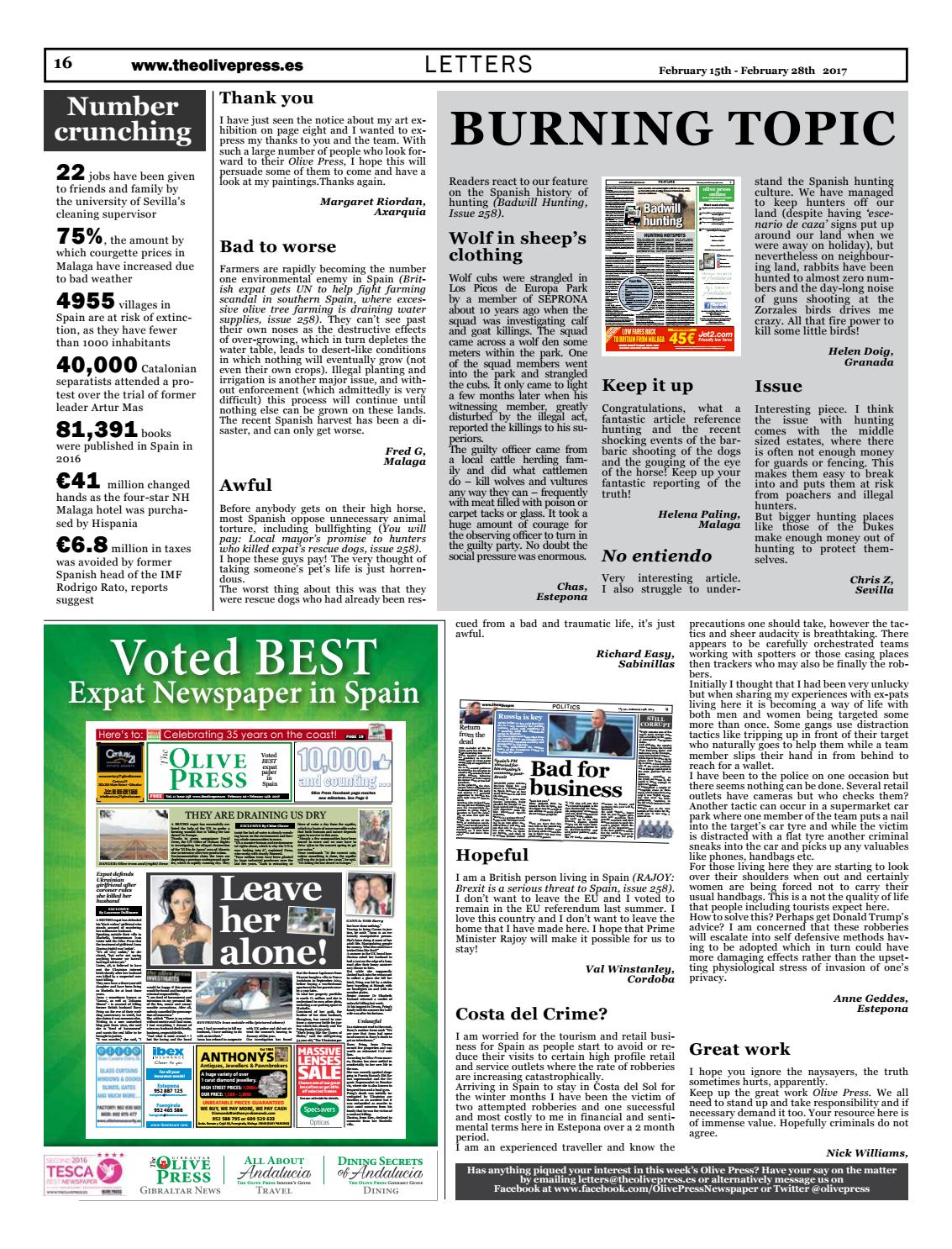 Olive Press Newspaper - Issue 259