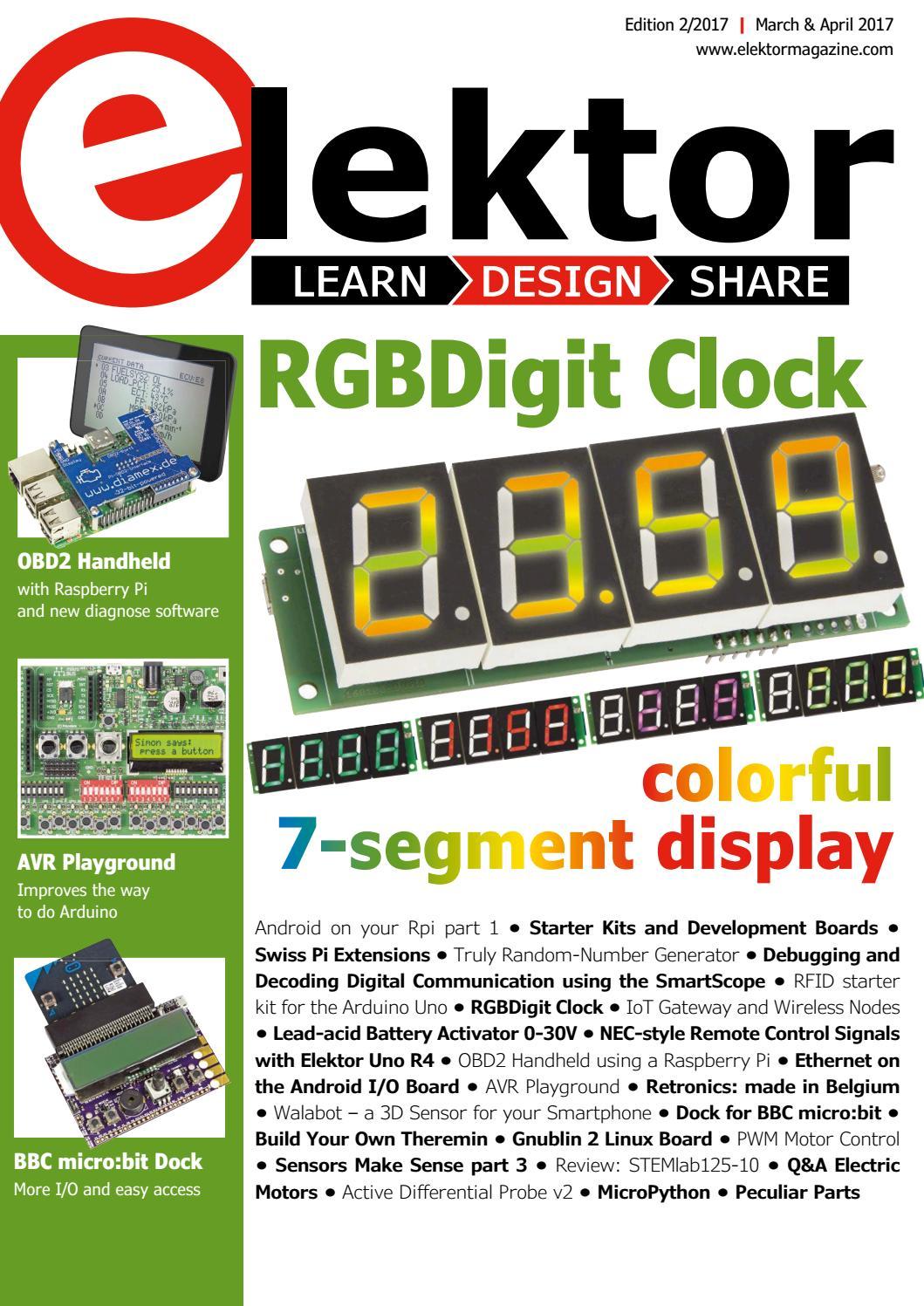 Elektor Magazine Edition 2 2017 By Issuu Circuit Diagram Of 7segment Display Interfacing To Arm Cortex M0