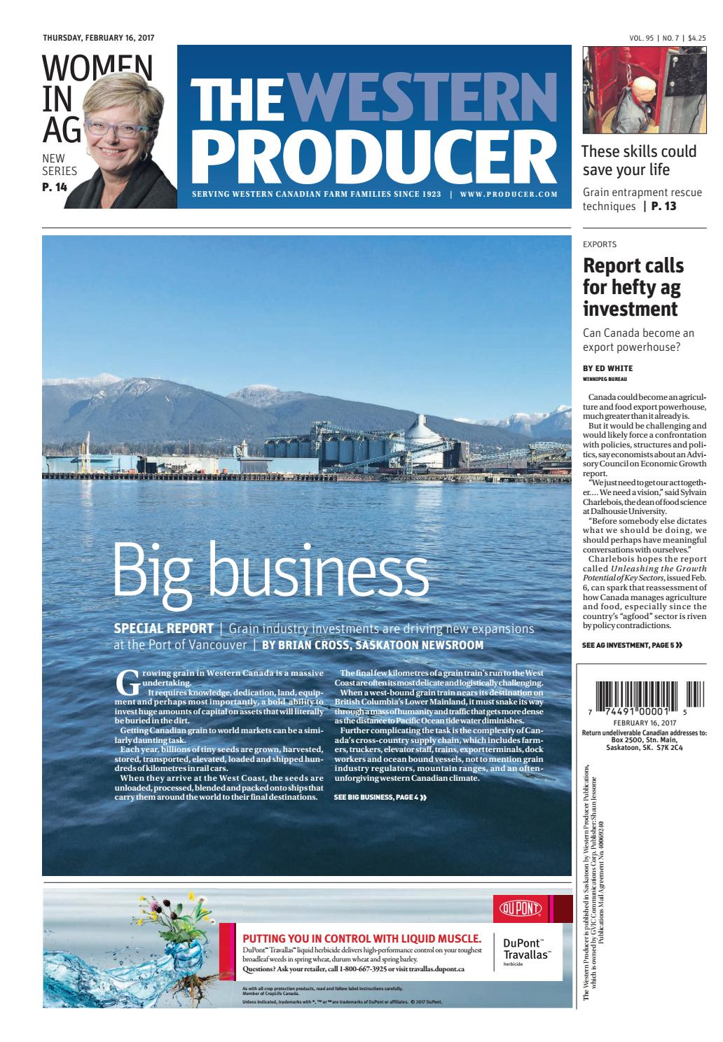 The western producer february 16, 2017 by The Western Producer - issuu