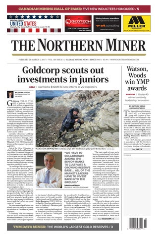 165 Niocorp Appoints Mr Mark A Smith  >> The Northern Miner February 20 2017 Issue By The Northern Miner