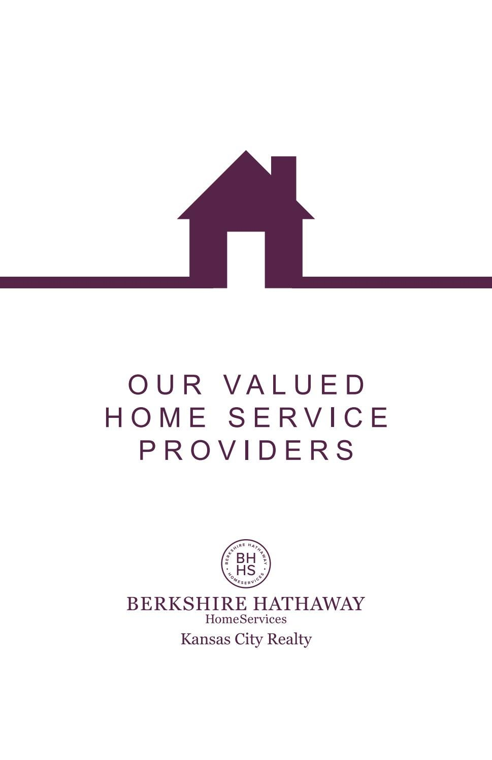 Our Valued Home Service Providers By Berkshire Hathaway