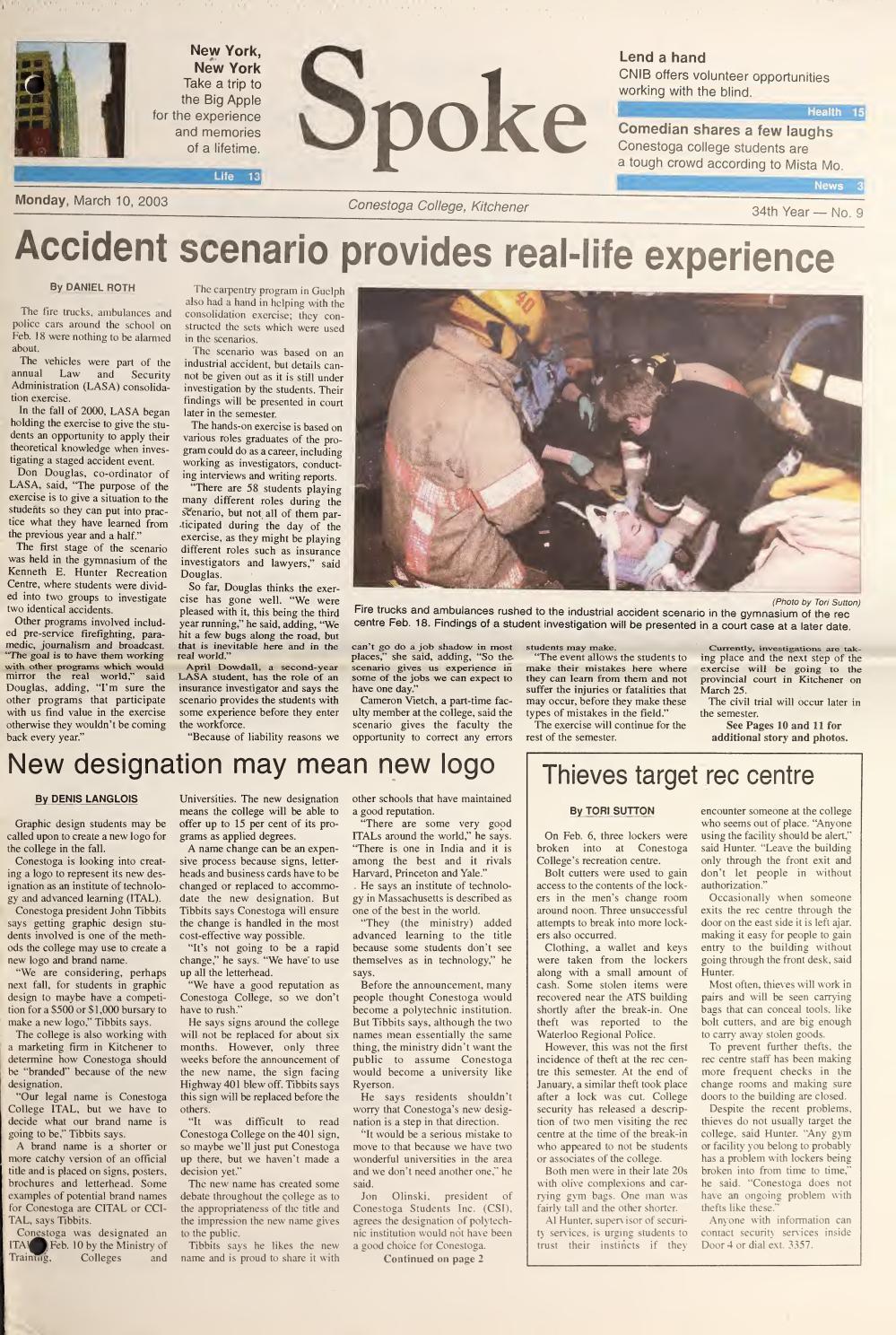 Digital Edition - March 10, 2003 by SPOKENewspaper - issuu