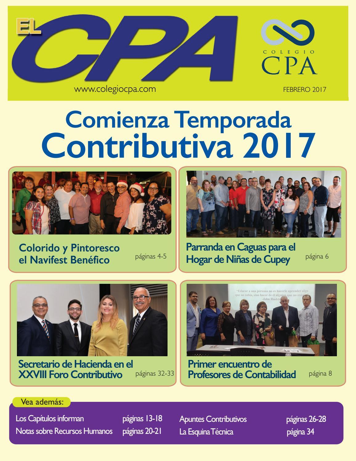 Revista el CPA (febrero 2017) by Colegio de CPA PR - issuu