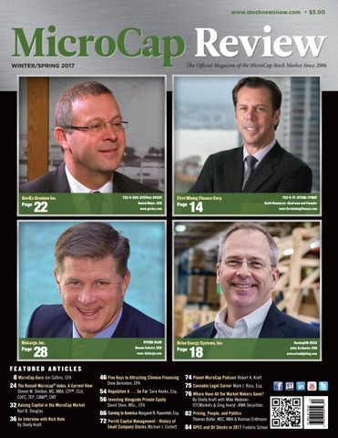 Microcap Review Fall 2017 by MicroCap Review Magazine - issuu