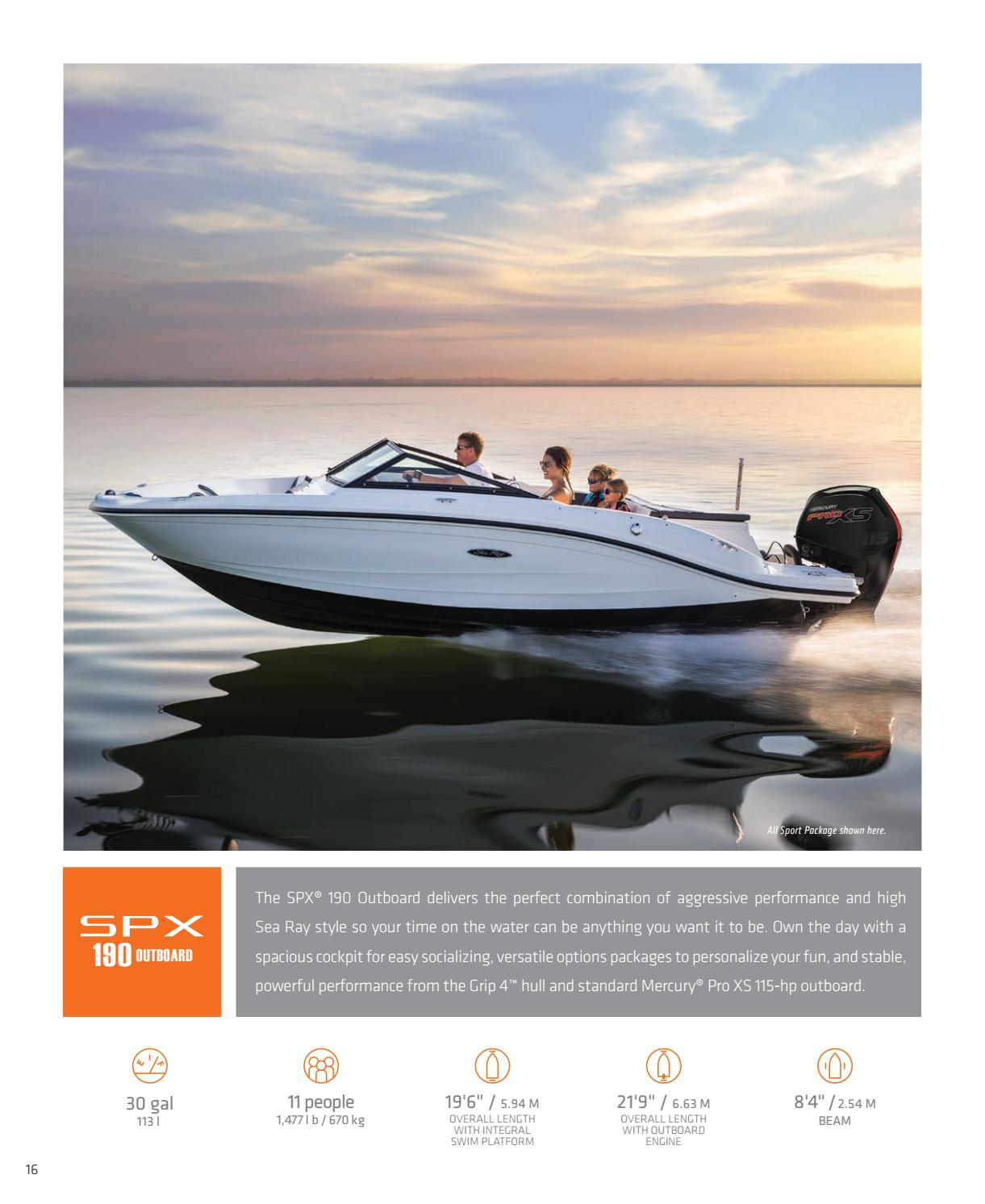 2017 Sea Ray Sport Boats Brochure by Dino Marketing Group - issuu