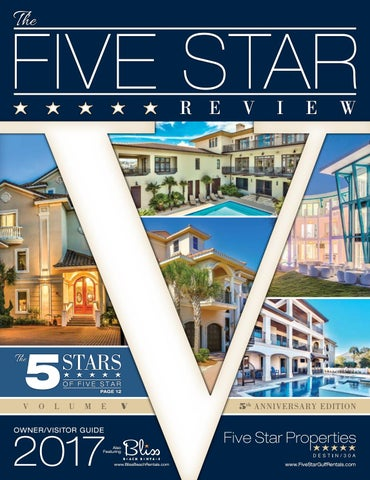 e79eae199e332 2017 Five Star Review by Five Star Beach Properties - issuu