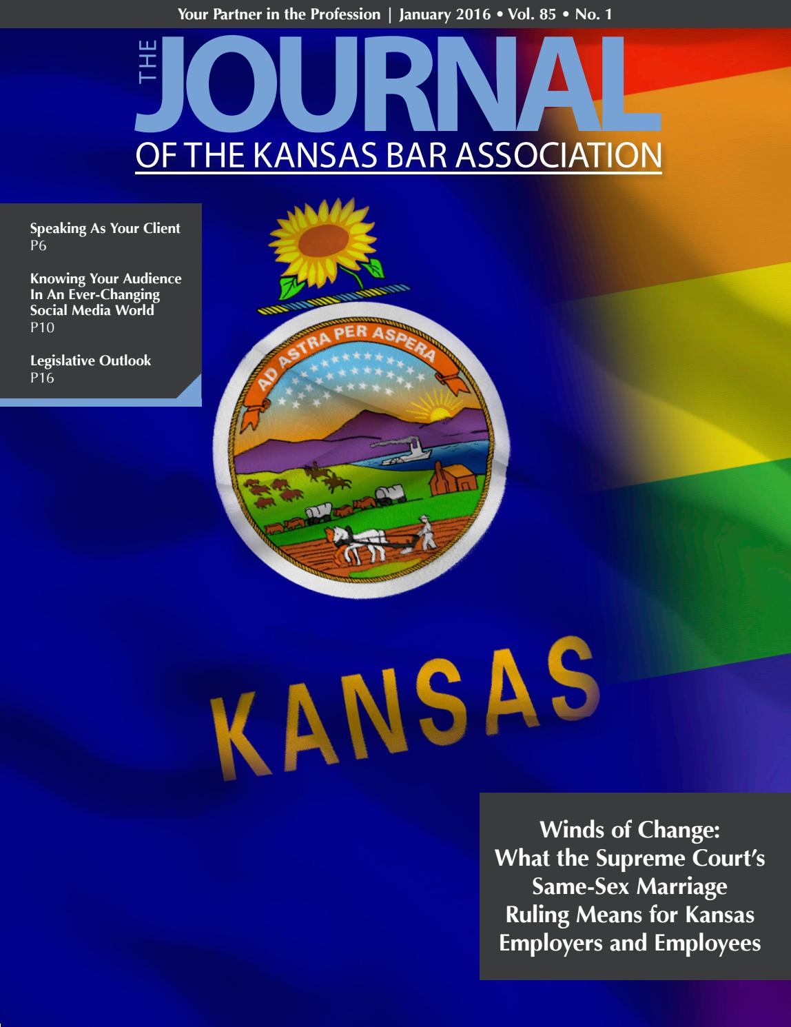 January 2016 Journal By Kansas Bar Association Issuu