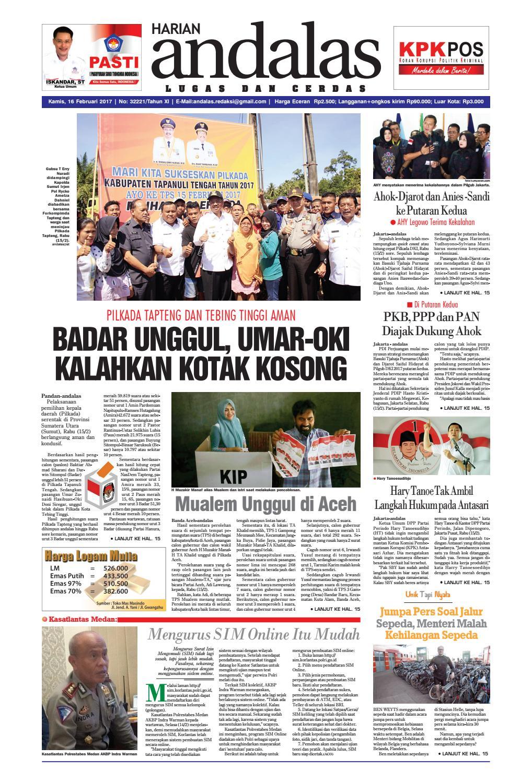 Epaper andalas edisi kamis 16 februari 2017 by media andalas - issuu 39cc658c35
