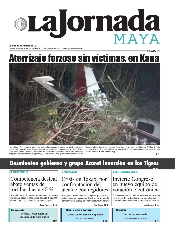 La Jornada Maya · Jueves 16 de febrero, 2017 by La Jornada Maya ...
