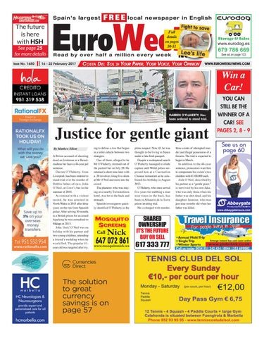Euro Weekly News - Costa del Sol 23 February - 1 March 2017 Issue 1651 by  Euro Weekly News Media S.A. - issuu