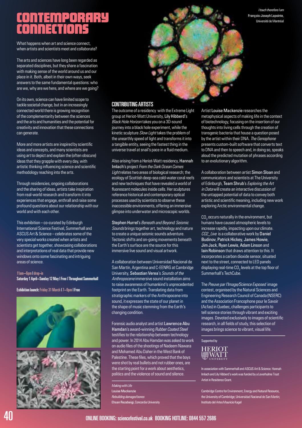 Edinburgh International Science Festival 2017 by Edinburgh Science