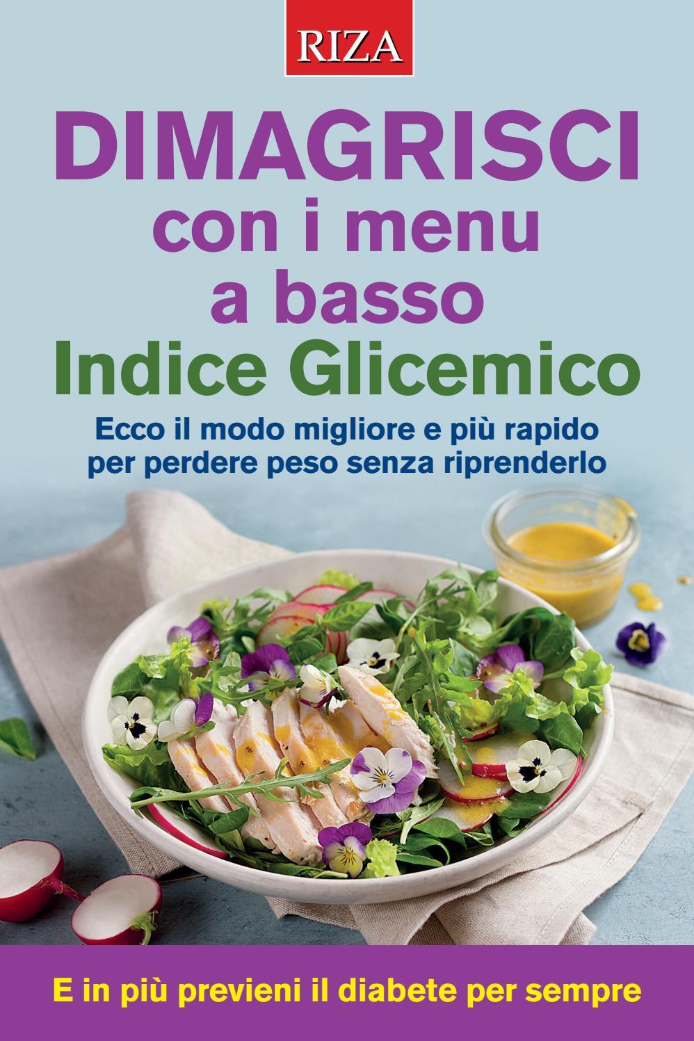 dieta a basso indice glicemico menu pdf