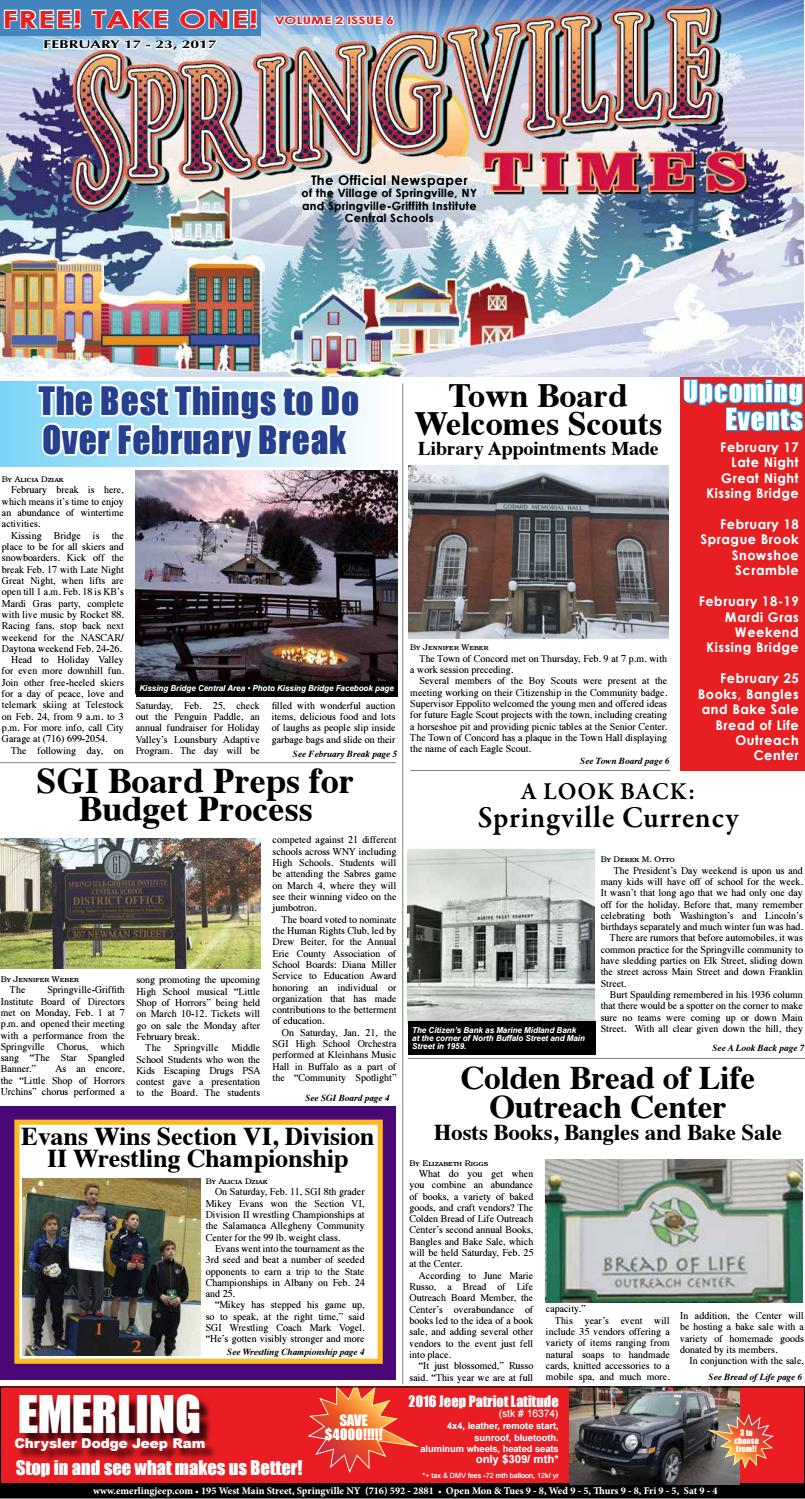 2-17-17 Springville Times by Ellicottville Times - issuu