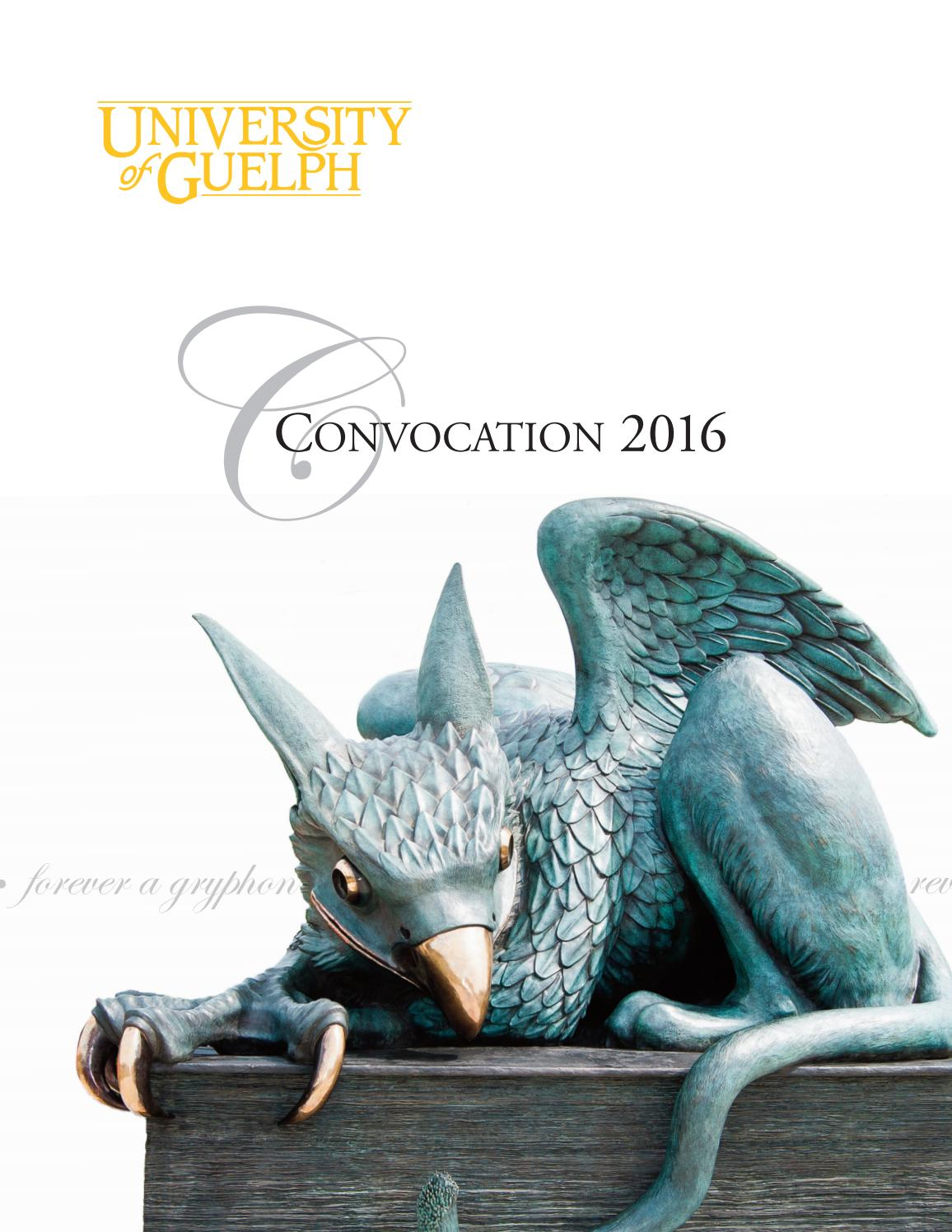 Fall 2016 University of Guelph Convocation Program by University of Guelph  - issuu de2292a9dc