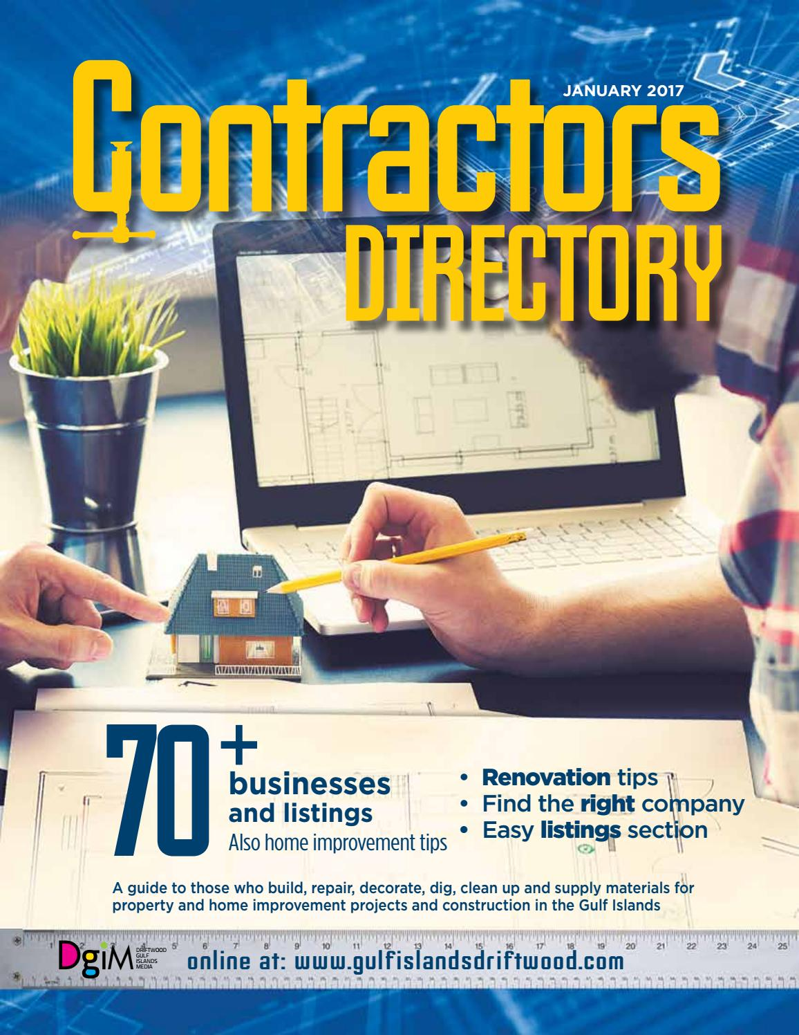 Contractors Directory 2017 By Gulf Islands Driftwood Publishing Issuu How To Install A Generator Electricians Apps Directories