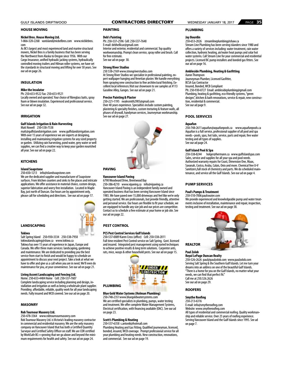 Contractors Directory 2017 By Gulf Islands Driftwood Publishing Issuu