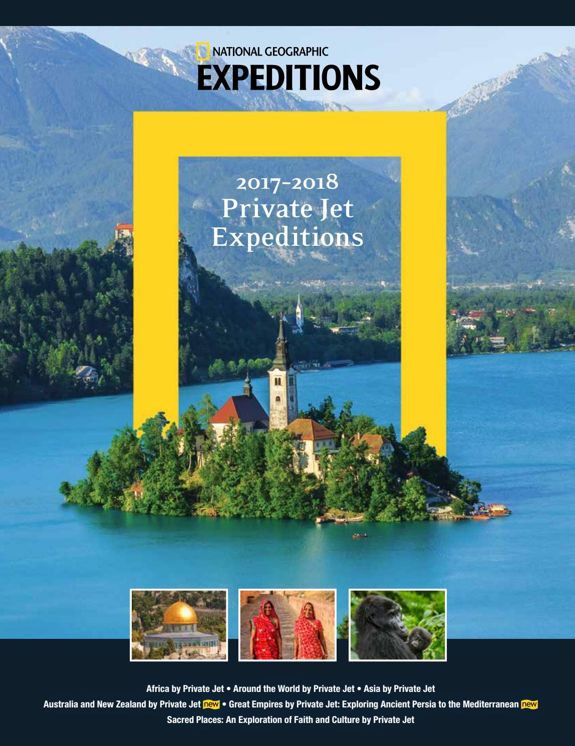 2017 2018 national geographic private jet expeditions by national