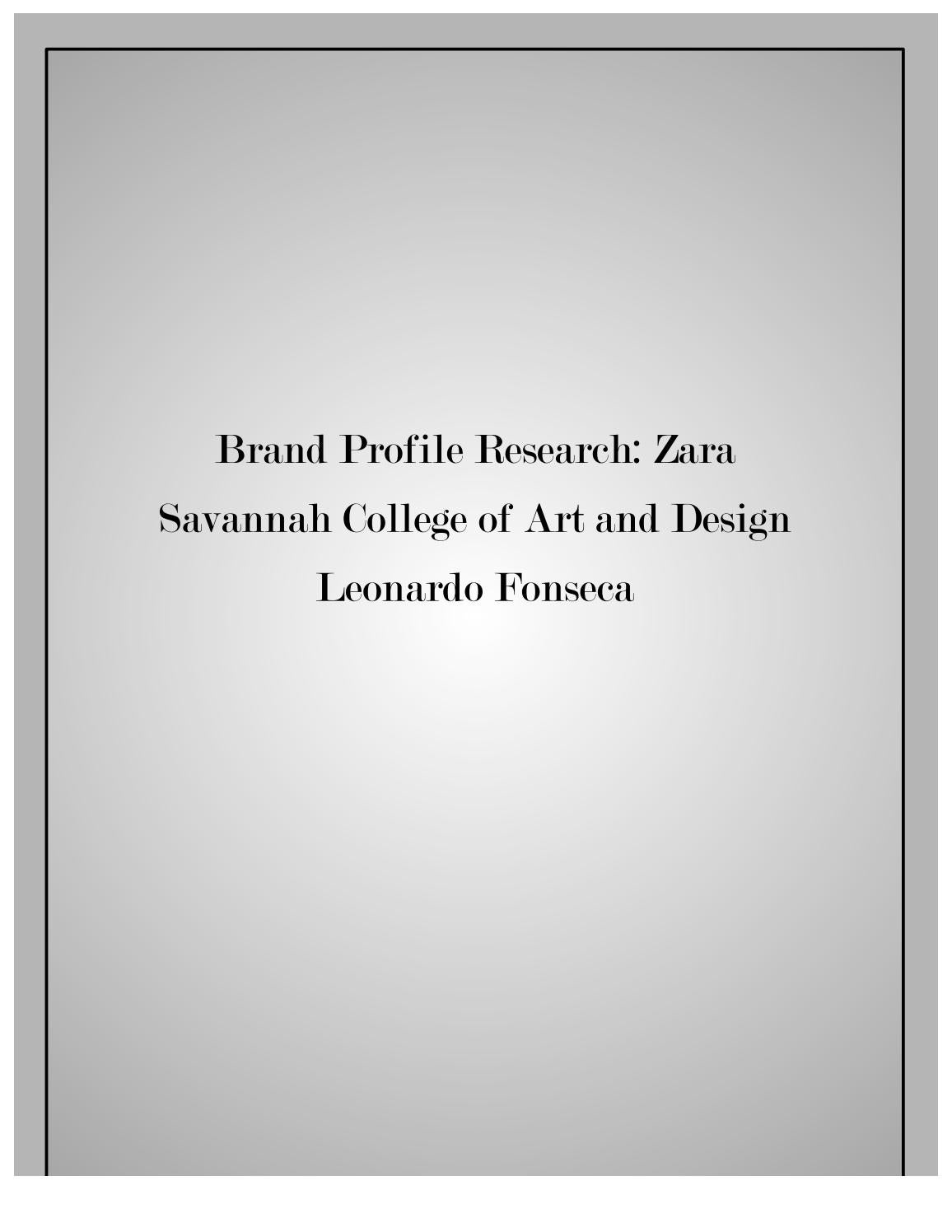 burberry mary katrantzou an analysis of the global luxury  zara brand profile research