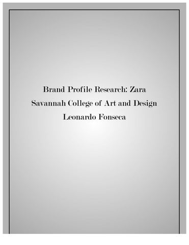 marketing zara case study