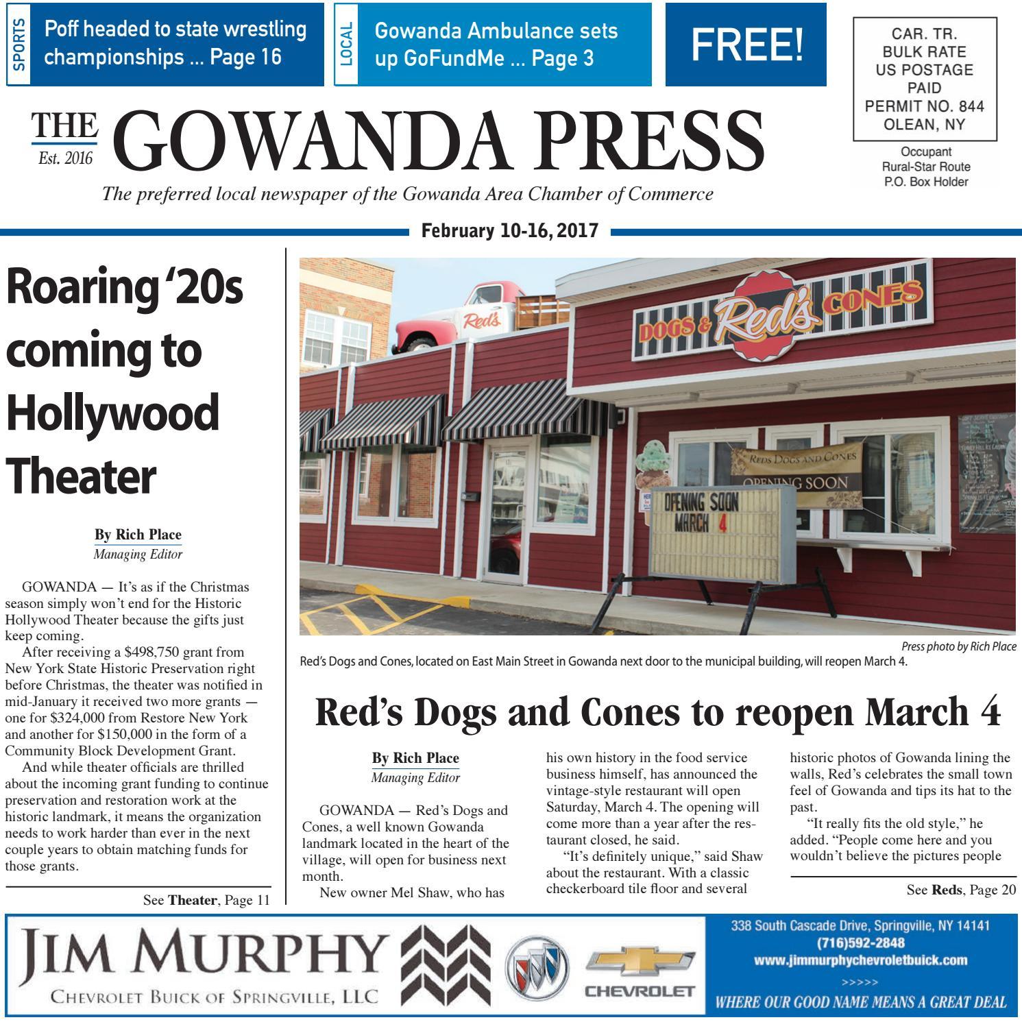 Gowanda Press Feb 17 2017 Edition By Bradford Publishing