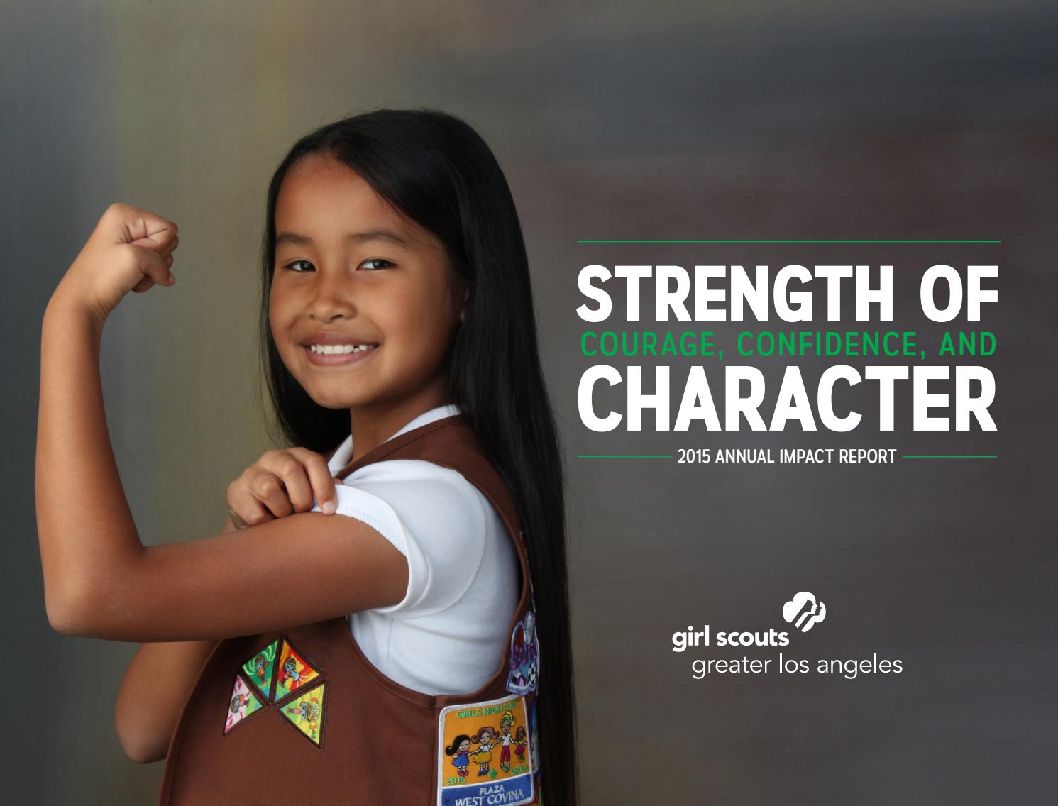 2014 2015 annual report by girl scouts of greater los