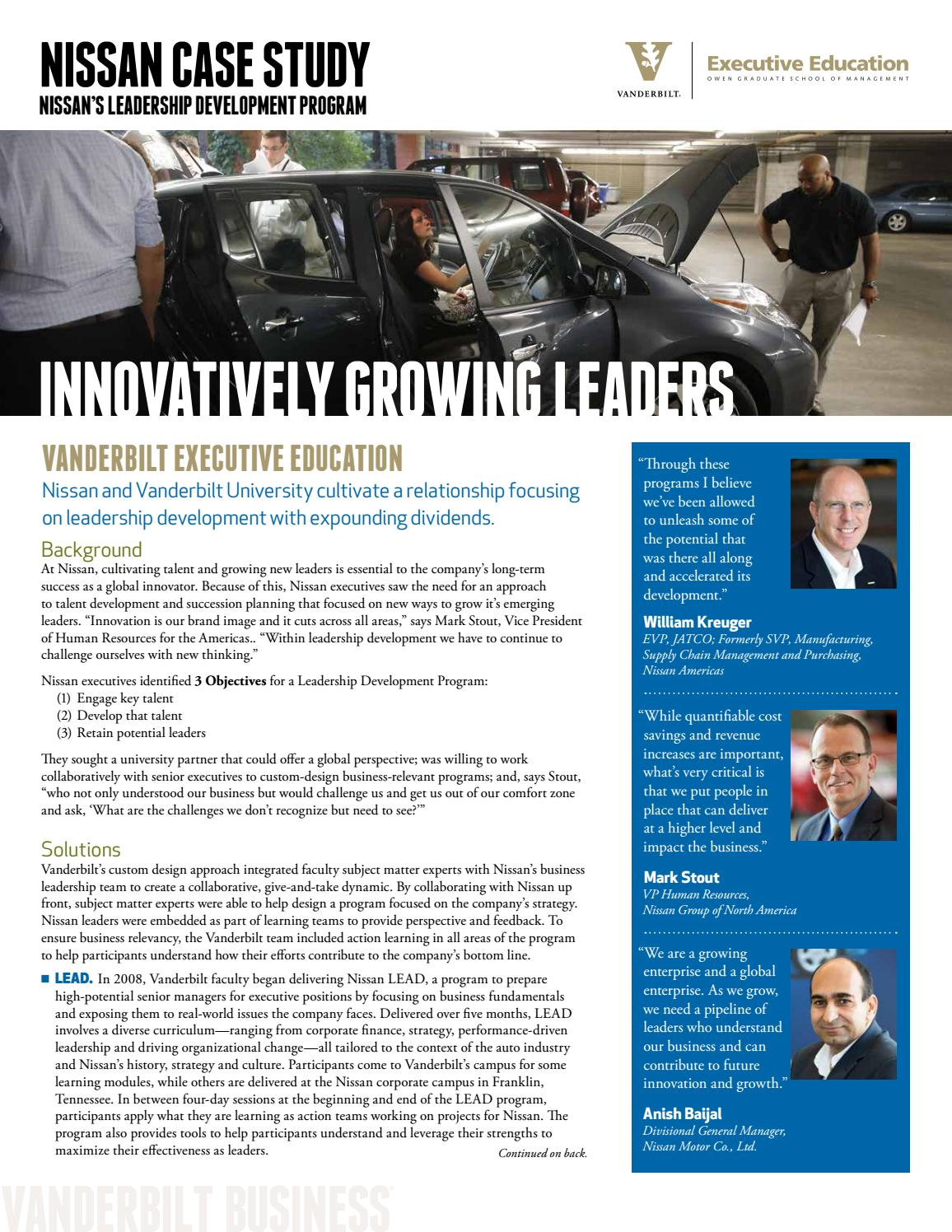 management growing leaders study case The report features case studies with two local governments—the city of sunnyvale, california and hennepin county, minnesota, and one state government, tennessee—whose leaders are committed to creating opportunities for employees to grow and thrive.