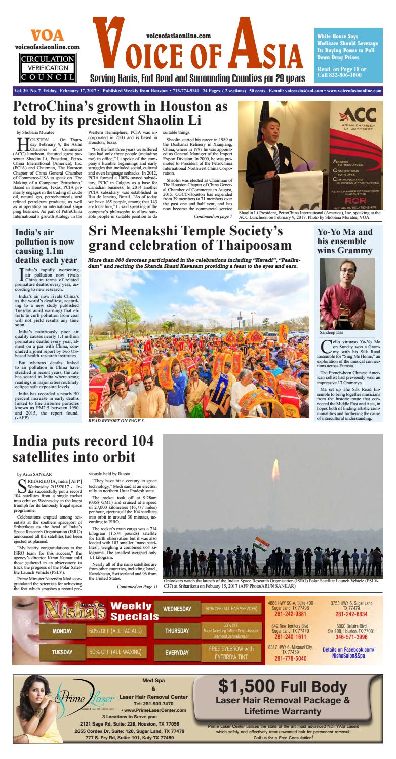 Voice of Asia Newsweekly e paper February 17 2017 by VoiceOf