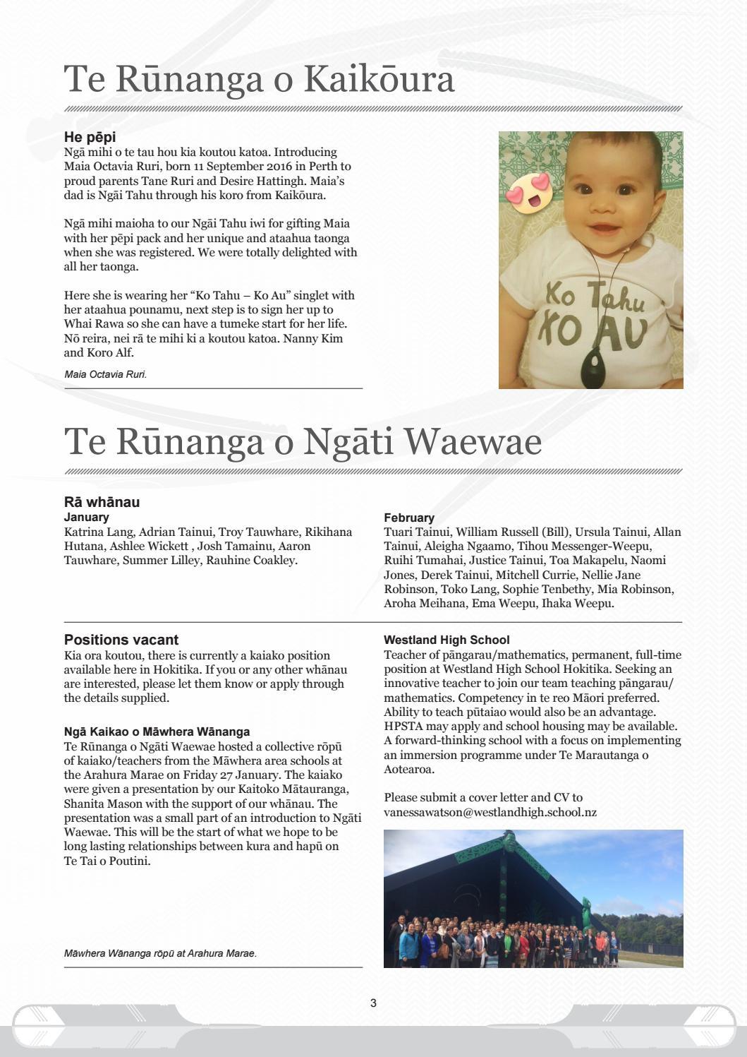 Te Panui Runaka February 2017 By Runanga O Ngai Tahu