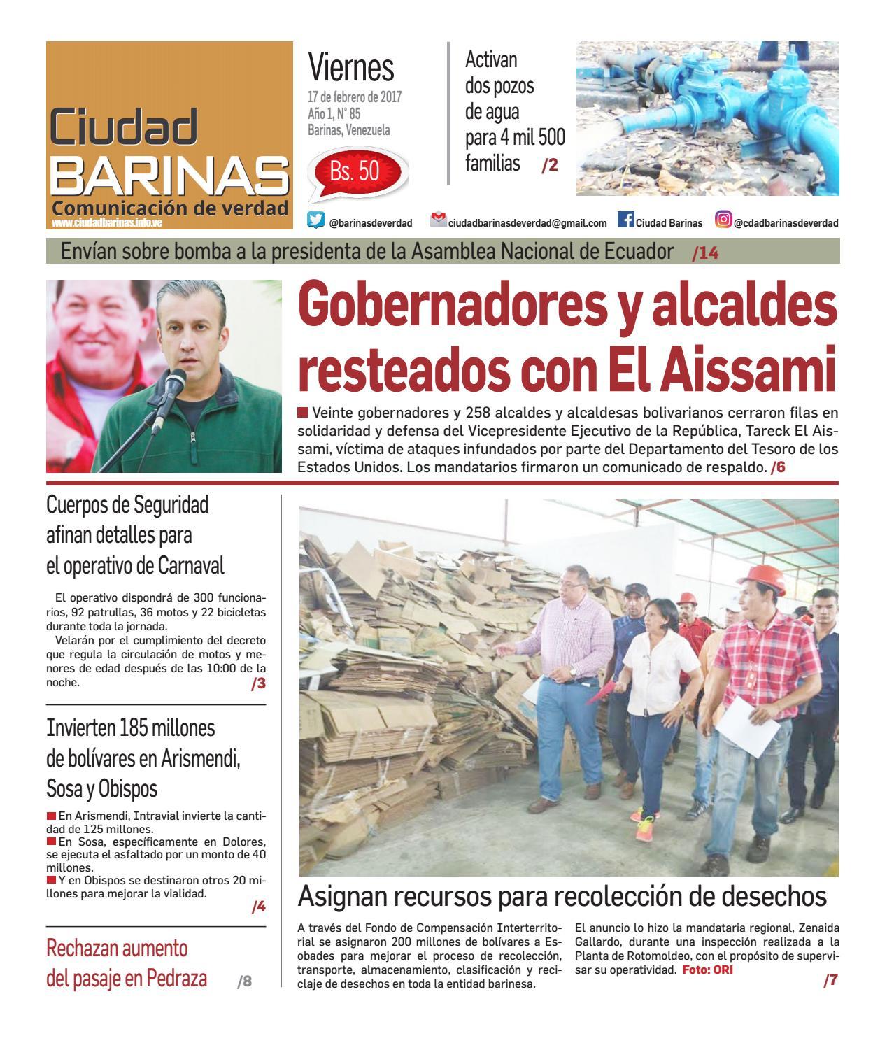 5c4467d1de Ciudad Barinas Edición N° 85 by Ciudad Barinas - issuu