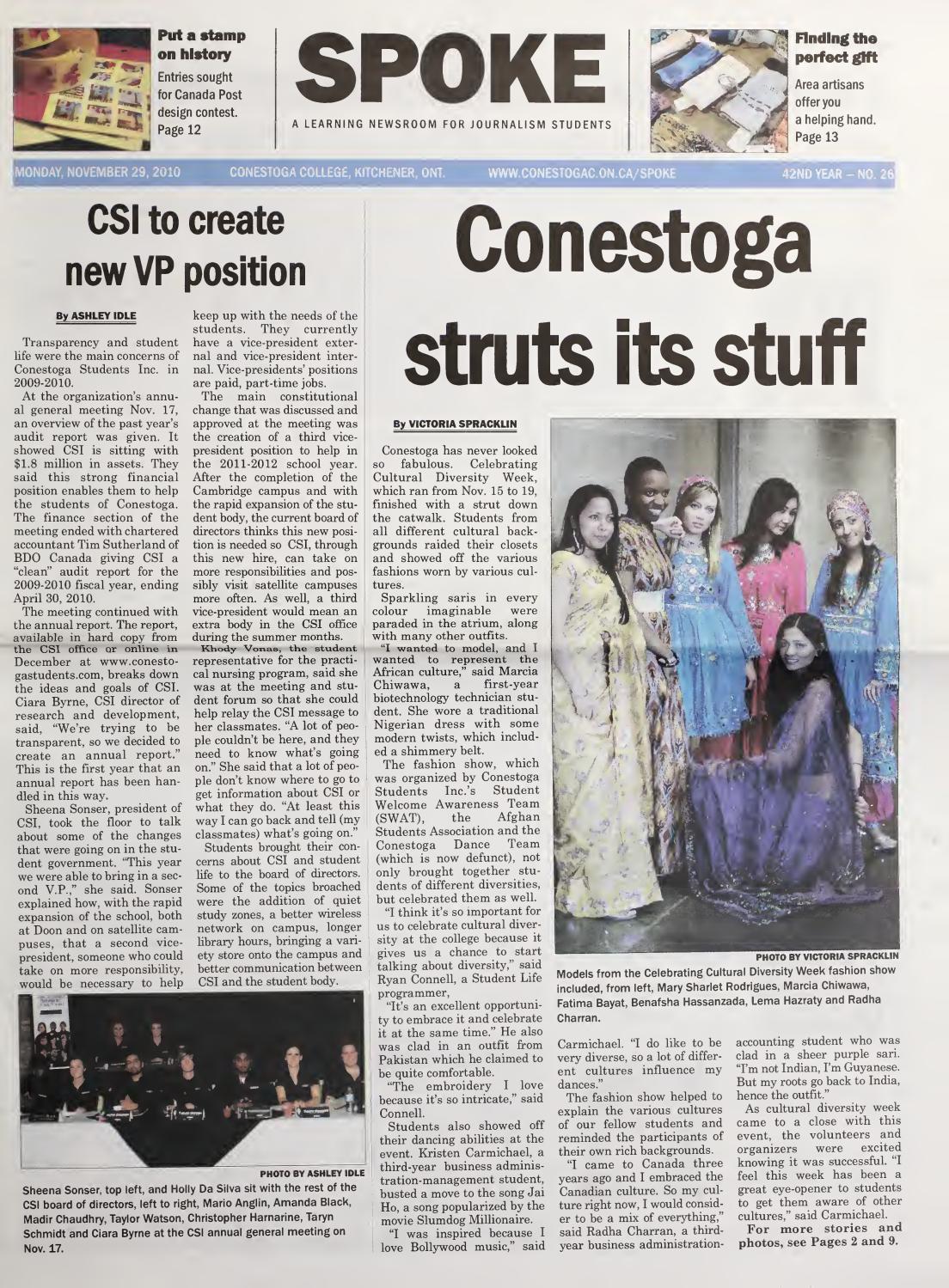 Digital Edition - November 29, 2010 by SPOKENewspaper - issuu