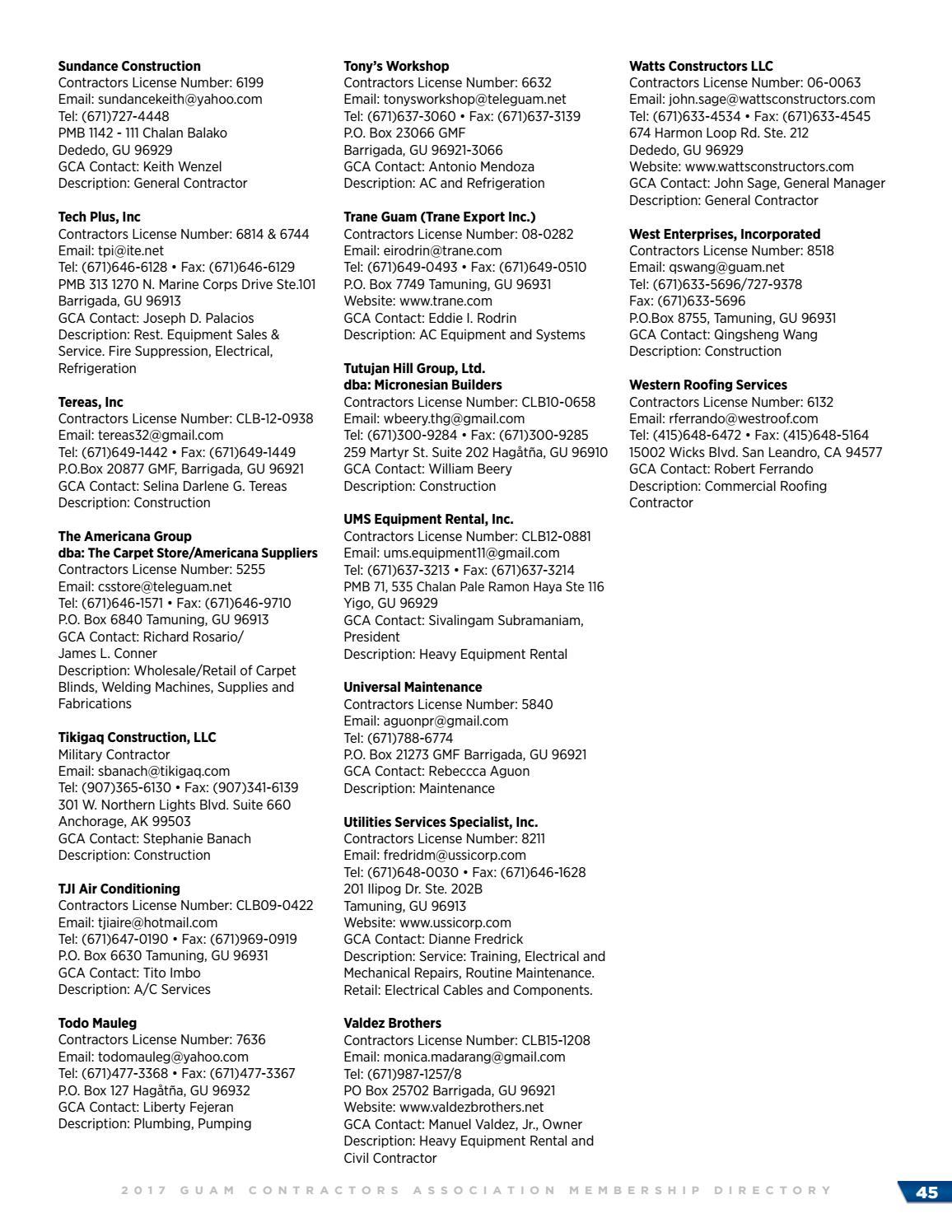 Gca 2017 Membership Directory By Geri Leon Guerrero Issuu