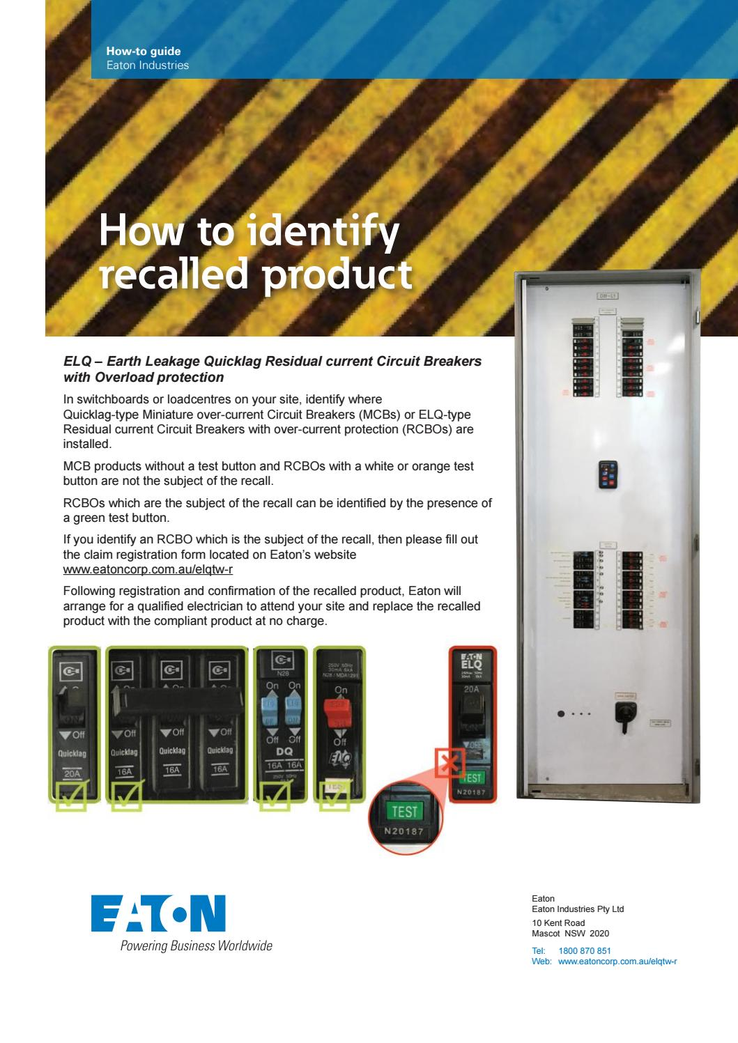 Eaton how to identify recall impacted product by Blackwoods - issuu