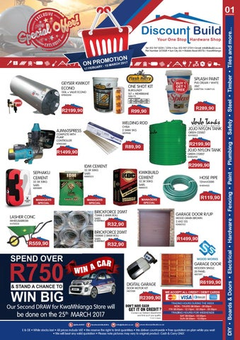 Discount Build Kwamhlanga Promotion Feb Mar 2017 By E H