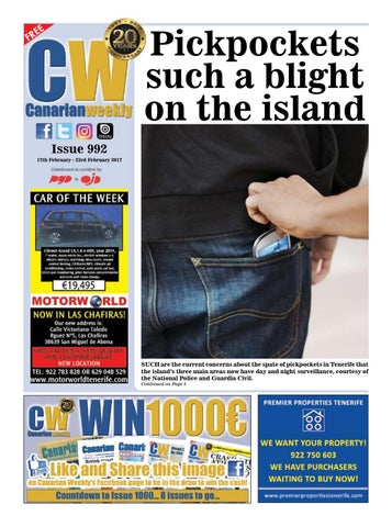 7c6b1ffcf353f Cw issue 992 by Canarian Weekly - issuu