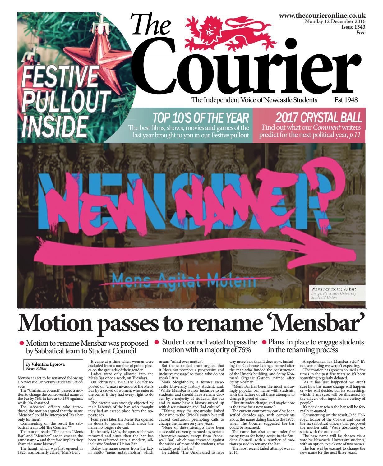37c8636fb9 Courier 1343 by The Courier Online - issuu