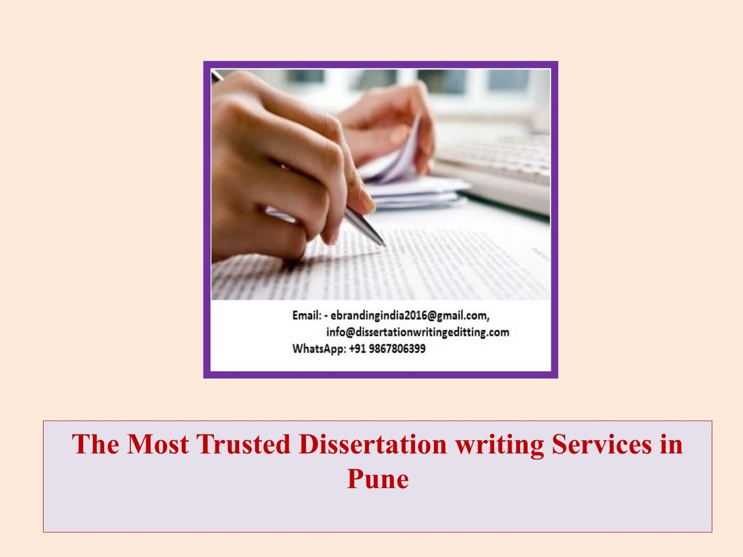A Dissertation Writing Service Par Excellence