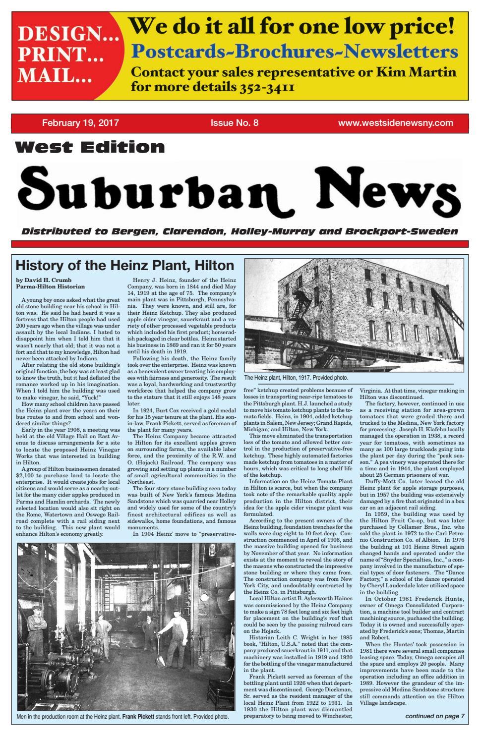 Suburban News West Edition - February 19, 2017 by Westside News Inc ...